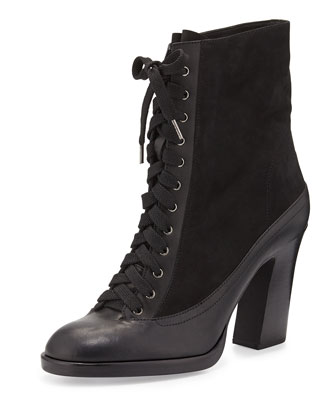 Hove Lace-Up Bootie, Black
