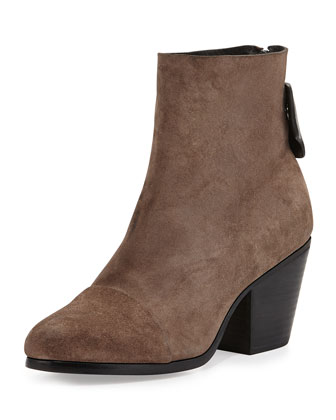 Ryland Suede Ankle Boot, Taupe
