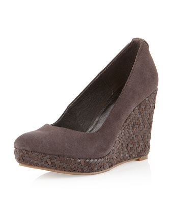 Woven Wedge Pump, Mineral