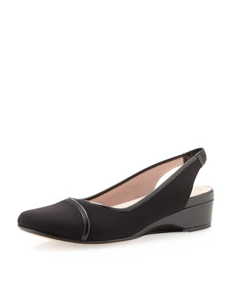 Kahlia Slingback Wedge, Black