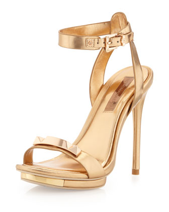 Freesia Platform Sandal, Gold Dust