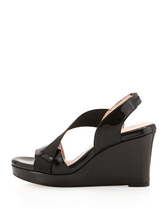 Shae Wedge Platform Sandal, Black