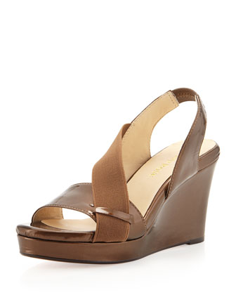 Shae Wedge Platform Sandal, Coffee