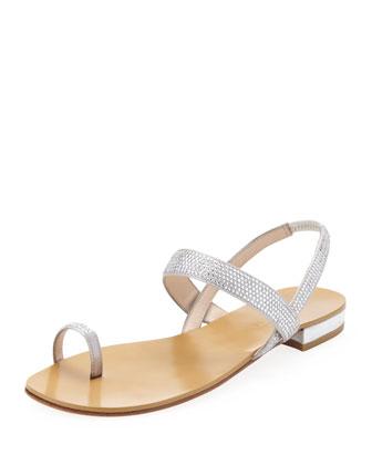 Beck Toe-Ring Sandal, Silver