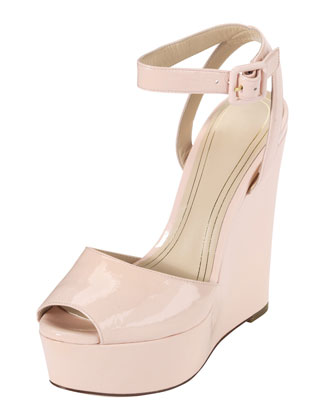 Jen & Oil Mary Jane Patent Platform Sandal, Blush