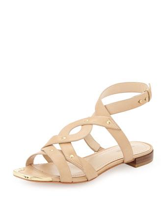 Kassia Studded Sandal, Tan