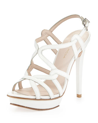 Flirty Patent Leather Sandal, White
