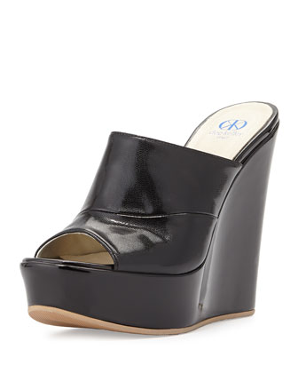 Sterling Patent Slide-On Wedge, Black