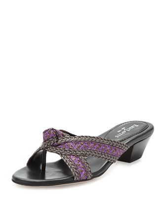 Twist Low-Heel Slide Sandal, Windsor Multi