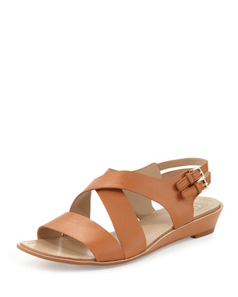 Mackenzie Leather Strappy Sandal, Ginger