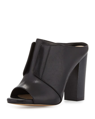 Evie Glove Leather Mule, Black