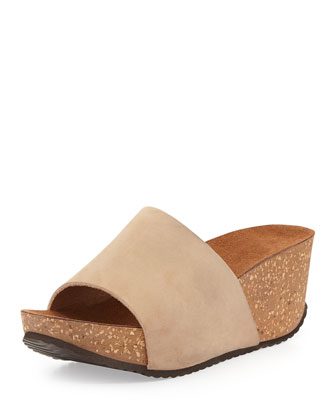Yolanda Slip-On Nubuck Wedge, Camel
