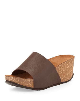 Yolanda Slip-On Nubuck Wedge, Brown
