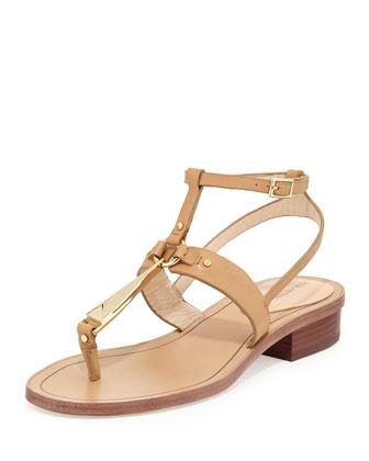 Acadia Leather Thong Sandal, Cigar