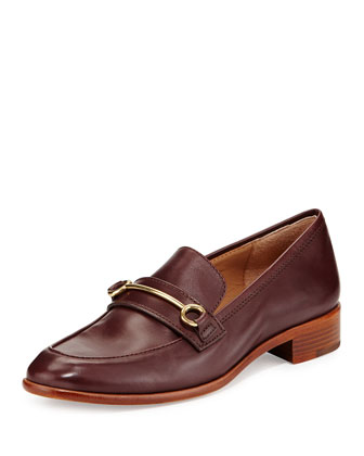 Fredrica Leather Bit Loafer, Dark Purple