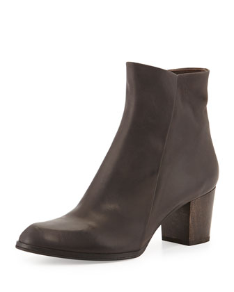 Adrienne Leather Ankle Boot, Ringo Smudge