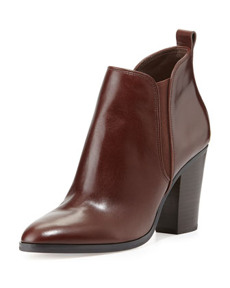Brandy Leather Bootie