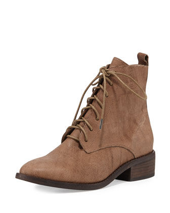Bravo Lace-Up Bootie, Dark Natural