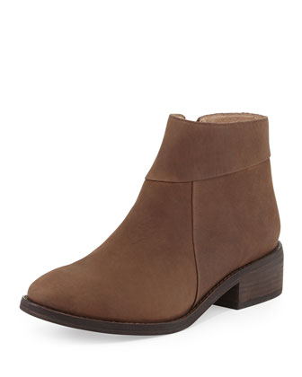 Lot Low-Heel Ankle Bootie, Coffee
