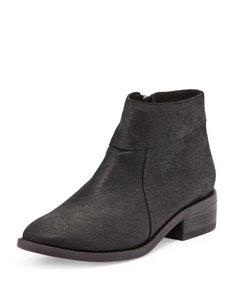 Lot Low-Heel Ankle Boot, Black