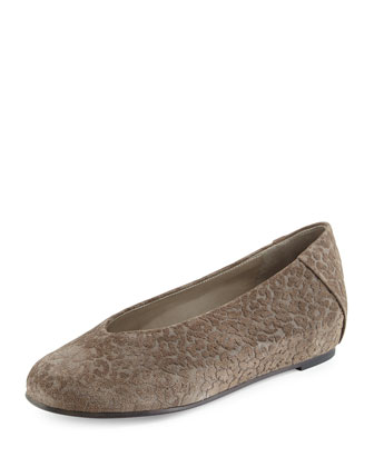 Patch Leopard-Embossed Slip-On, Ash
