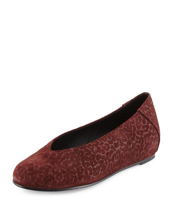 Patch Leopard-Embossed Slip-On, Merlot