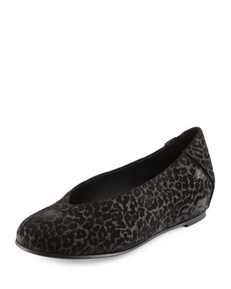Patch Leopard-Embossed Slip-On, Black