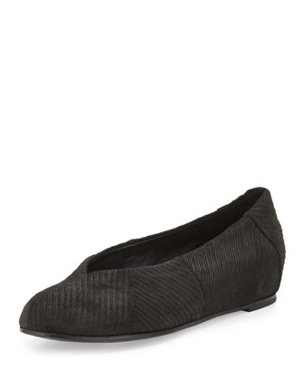 Quilt Corduroy Slip-On, Black