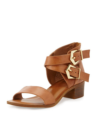 Pardon My French Buckled City Sandal