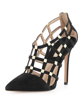AGNES POINTED TOE CAGE PUMP