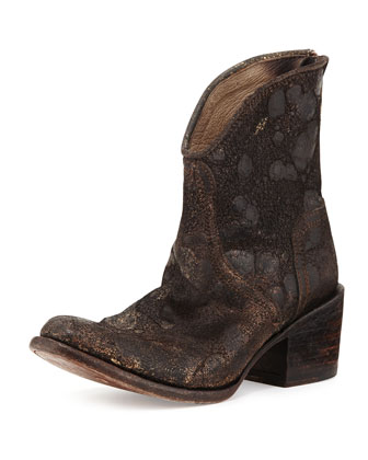 Peak Western Ankle Boot, Black Multi