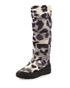 Brigitte Printed Snow Boot, Cream