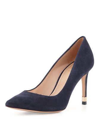 Greenwich Suede Pump, Tory Navy
