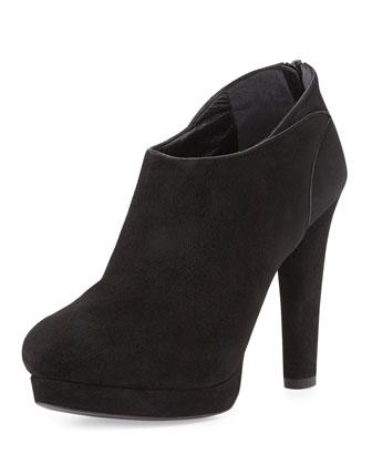 Tribeca Suede Platform Ankle Boot