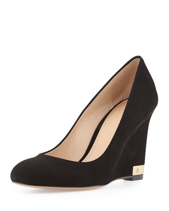 Astoria Suede Wedge Pump