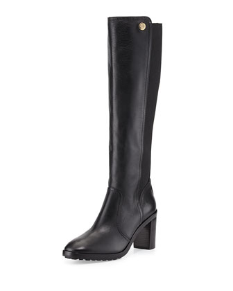 Sullivan Stretch-Back Knee Boot, Black