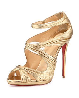 Kasia Metallic Red Sole Sandal