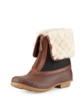 Abbott Shearling-Cuff Duck Boot