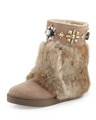 Curran Shearling-Lined Fur Boot