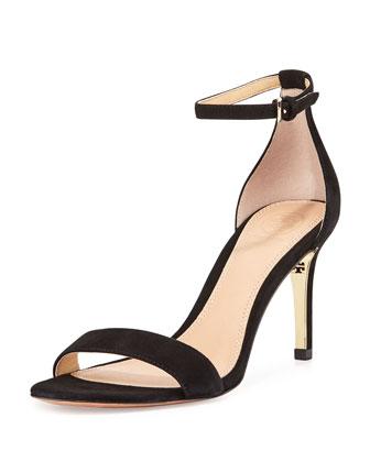 Marena Suede Ankle-Strap Sandal