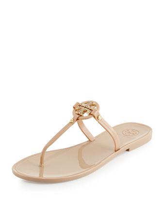 Elaine Flat Logo Thong Sandal, Blush