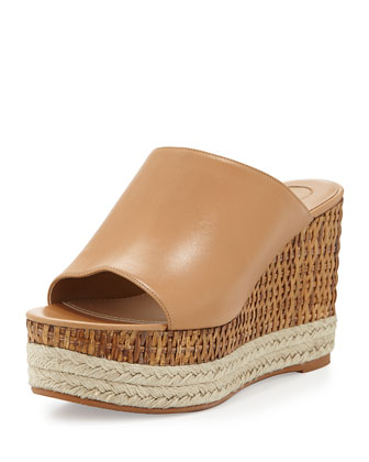 Maimei Wicker Wedge Slide, Sienne