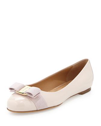 Varina Patent Ballerina Flat, Macaron