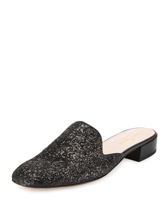 gowan glitter mule slide, black