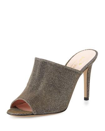 ilisandra glitter mule slide, bronze
