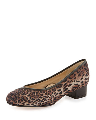 Jenison Leopard-Print Stretch Pump
