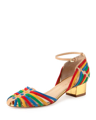 Ranchera Woven Low-Heel Sandal