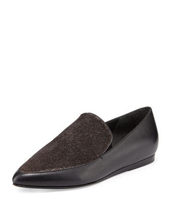 Nikita Point-Toe Combo Loafer