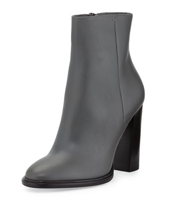 Overton Leather Bootie, Graphite