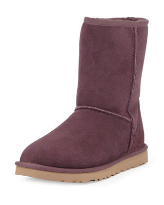 Classic Short Boot & Monogrammed Classic Short Boot, Dark Purple